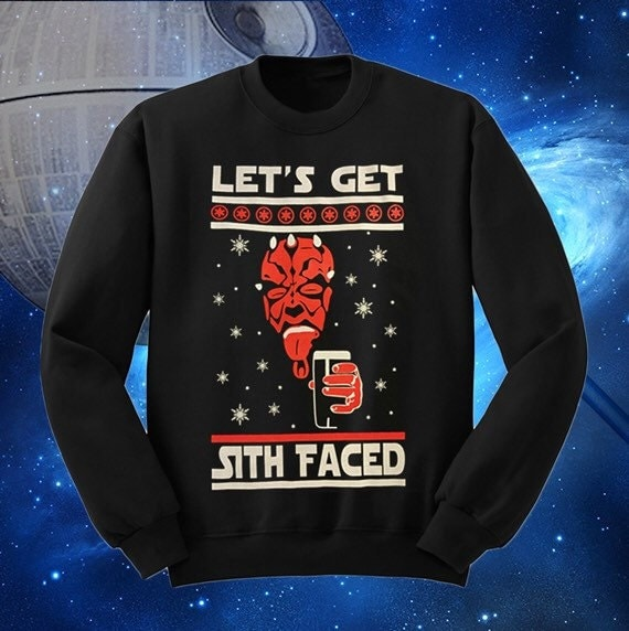 Star Wars Ugly Christmas Sweater Lets Get Sith Faced Darth