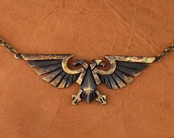 Warhammer 40K Imperial Aquila Eagle Pendant Necklace