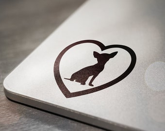 Chihuahua Heart Laptop Decal Sticker