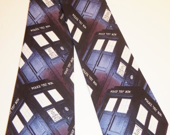 Doctor Who Inspired Tardis Adult Necktie