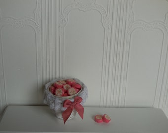 1:12 DOLLHOUSE  Strawberry soap pads, wrapped with label