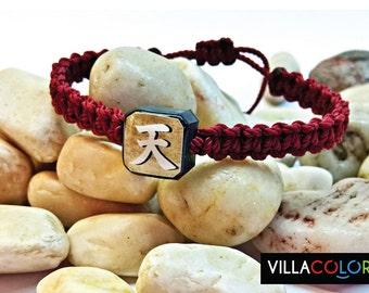 Kanji Heaven Bracelets, Macrame Friendship, Japanese Symbol