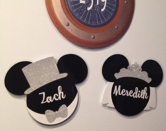 Personalized Bride & Groom Set - Just Married Disney Cruise Magnets