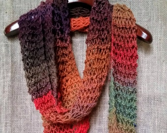 Womens Knitwear Gift // Unique Handmade Scarf // Hand Knitted Items// Gifts for Mom Under 50 from Daughter // Winter Accessories