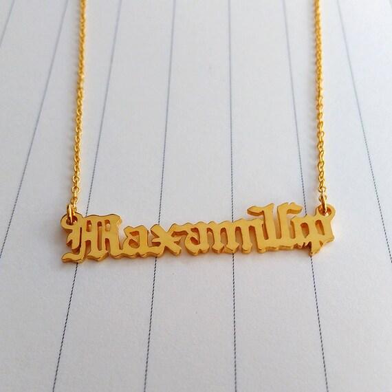 Personalizar el viejo nombre inglés collar viejo por customforu