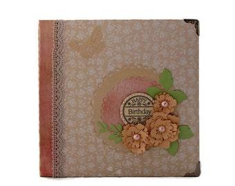 Custom Scrapbook Album - Birthday Scrapbook Album - Gift For Best Friend - Instax Mini Album - Birthday Gift For Her - Cute Gift For Wife