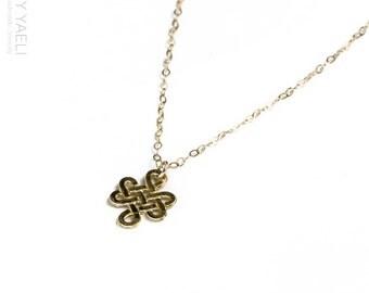 Celtic necklace, infinity necklace, Gold necklace, infinity necklace, unique necklace, gift under 50, dainty necklace.