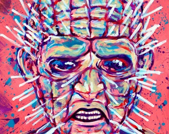 "8x10"" colorful Neon Pinhead Open Edition Hellraiser"