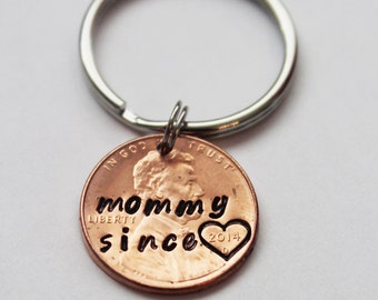 MOTHERS GIFT. Mothers day gift, Valentines gift, Personalized Penny. Stamped Penny. Mommy Since... Mom Gift. New mom gift, baby gift,