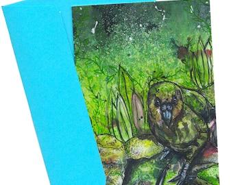 Kakapo Greetings Card