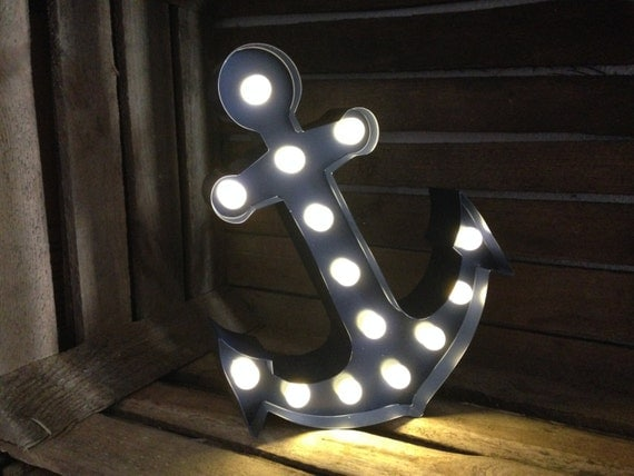 12 Inch LED Lighted Wall Anchor by RupandFornCreative