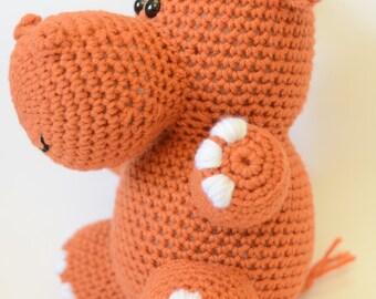 Crochet Hippo Pattern - Crochet Stuffed Hippo - Crochet Hippo Pattern - Crochet Stuffed Animal - Stuffed Animal Pattern - Amigurumi Pattern