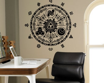 Legend of Zelda Wall Vinyl Decal Gate Of Time Wall Sticker Home Interior Bedroom Decor Kids Children Wall Design 6(zda)