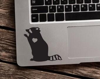 Raccoon Decal Car Sticker Laptop decal  Vinyl Decal Sticker