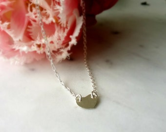 Sterling silver necklace. Tiny Heart necklace. Initial necklace personalised or blank.