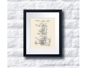 Military Vintage Willys Jeep Patent Print #8  1947 Drive axle construction, vintage jeep wall decor, military gift idea, US Army Gift