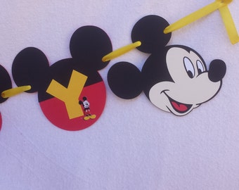 Mickey Mouse Red and Yellow Birthday, Mickey Mouse Birthday Decoration, Mickey Mouse Party Decorations, Mickey Mouse Birthday Banner