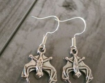 Bat Earrings, Vampire Earrings, Vampire Bat Earrings, Halloween Earrings, Silver Bat Earrings, Halloween Jewellery, Batman Earrings