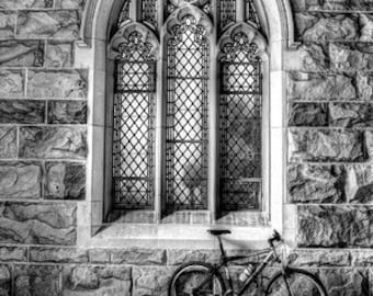 Bicycle at the University of the South - Sewanee TN - B& W