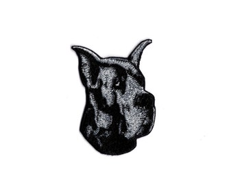 Great Dane dog patch Iron/sew on Patch m2