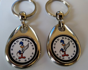 Plymouth Road Runner keychain 2 pack 1968 1969 1970 double sided  fob emblem