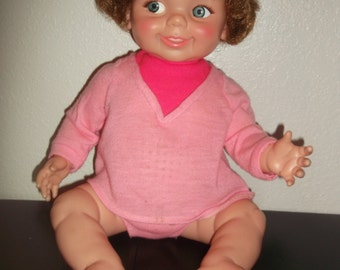 Vintage IDEAL Giggles Doll 1968 NICE!!