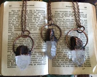Raw Crystal Necklace  Raw Quartz  Jewelry Healing Crystal Pendant  Bohemian Necklace  Gypsy Necklace Raw Crystal Jewelry Bohemian gift idea