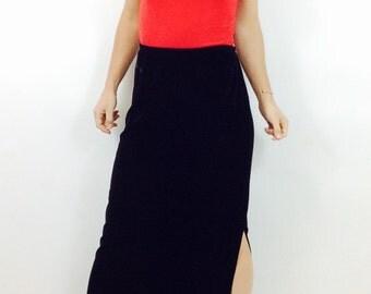 Long Black skirt black maxi skirt velvet black skirt black long skirt high waisted skirt velvet maxi skirt m skirt minimalist skirt medium