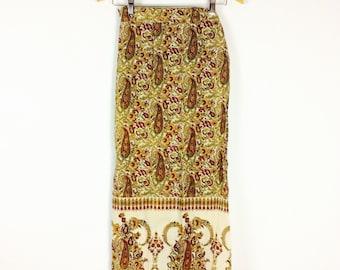 Vintage indian skirt cotton wrap skirt vintage skirt high waisted skirt 70s skirt paisley skirt 70s vintage indian wrap skirt bohemian skirt