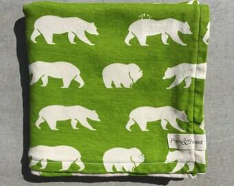 Organic Baby Blanket, Bears