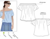 Cara Top - Sizes 10, 12, 14 - PDF sewing pattern for printing at home by Style Arc - Instant Download