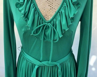 Wome's vintage 1970's maxi dress (UK 10-12)