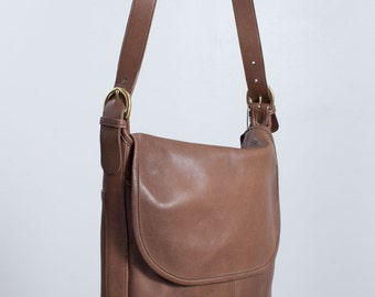 Vintage Coach Whitney Bag | British Tan Bucket Bag | Light Brown Leather Purse
