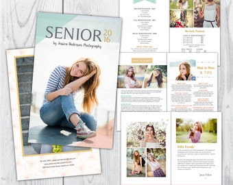senior magazine template, graduation magazine template, photography magazine template, photography welcome magazine, welcome guide, flyer