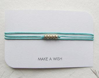 Wish bracelet, friendship bracelet, make a wish bracelet