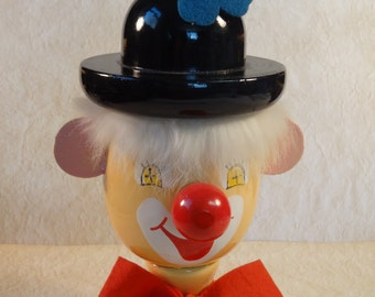 Interesting (Creepy) Wood Clown Bank made in Spain