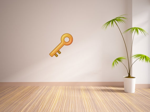 Key Emoji Vinyl Wall Decal Major Key Vinyl Wall Decal - Emoji wall decals