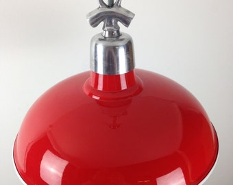 Traffic Red Factory Ceiling Light