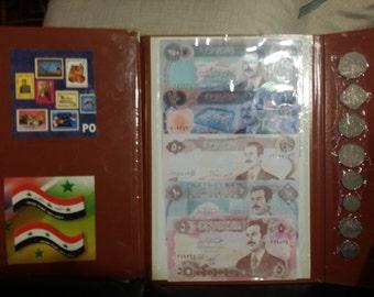 Iraqi dinar (Bills & Coins) from Speicher, Iraq