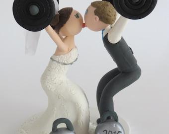 Crossfit Bride & Groom Cake Topper