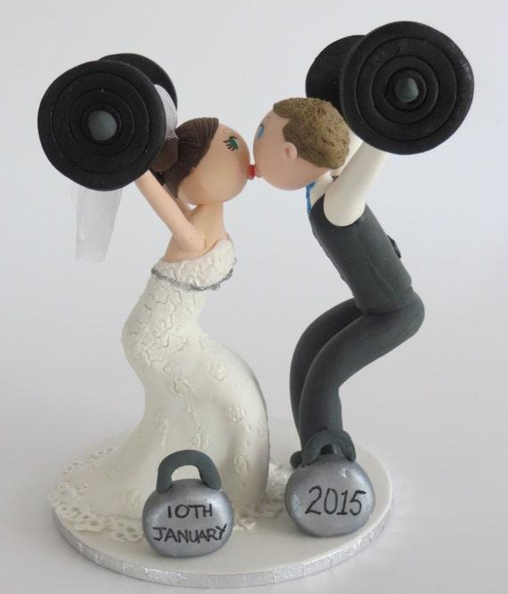 Crossfit Wedding Cake Topper