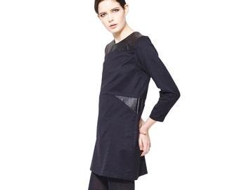 little black dress / organic cotton dress /  leather dress /  mini black dress / mini dress / black dress / cotton dress