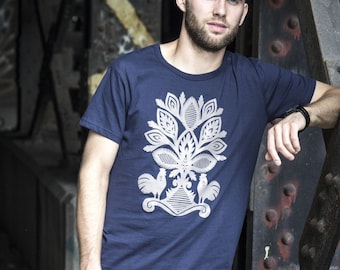 Men's Kurpie Inspired Polish Folk Tshirt