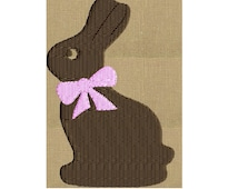 "Chocolate Bunny - Easter - EMBROIDERY DESIGN FILE - Instant download - 4"" frames - Exp Xp3 Dst Hus Jef Pes formats"