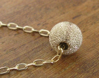 Gold necklace, 14k Gold Filled Dot Necklace, ball necklace, small pendant necklace, gold bead, simple necklace gold
