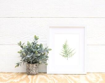 Fern Print No 3 - Fern painting - Fern watercolor - home decor painting - watercolor painting - greenery - fern art - fern leaf - leaf