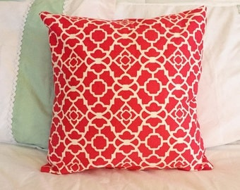 Pink And White Pattern Pillow Cover