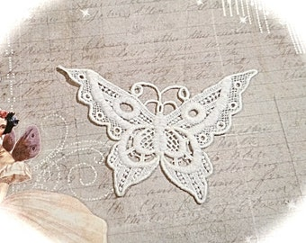 Lace Butterfly Applique  Boho Trims Sewing Supplies AP-149
