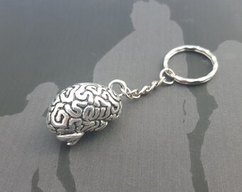 Brain Keychain, Zombie Keyring, Horror Gift, Anatomy Keyring, Body Parts, Zombie Brains, Gruesome Gift, Zombie Party, Zombie Apocalypse Gift