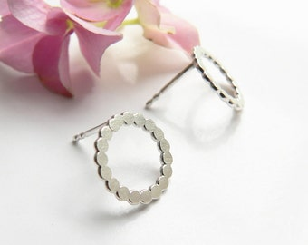 Earrings silver circles